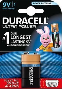 duracell ultra power 9V blok batterij MN1604 6LR61