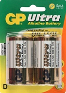 GP Ultra alkaline batterijen type D (mono)