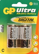 GP Ultra alkaline batterijen type C (baby)