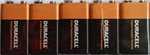 Duracell Plus 9 V 5-pack
