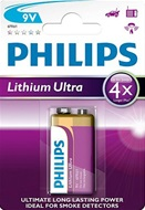 Philips Lithium Ultra 9V batterij