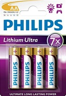 Philips Lithium Ultra AA batterijen