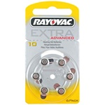 Rayovac 10 Extra Advanced hoortoestel batterijen type 10 geel