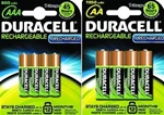 SET Duracell Pre en Stay Charged oplaadbare batterijen AAA en AA